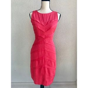 Adrianna Papell Coral Chevron Dress Sz 4